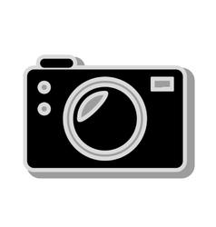 Vintage photographic camera icon vector