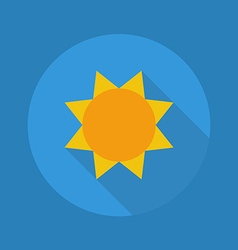 Weather Flat Icon Sunny vector image