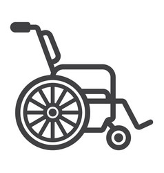 wheelchair line icon medicine and healthcare vector image