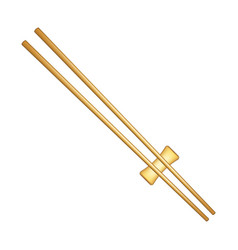 Wooden chopsticks in light brown design vector