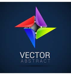 Abstract logo templates Infinite shapes Square vector image vector image