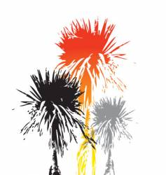 cabbage tree vector image