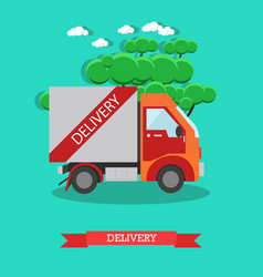 delivery service in flat style vector image vector image