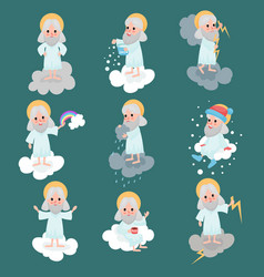 god character working day set vector image