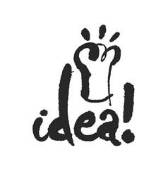 Idea calligraphy lettering vector