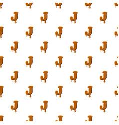 Letter j from caramel pattern vector