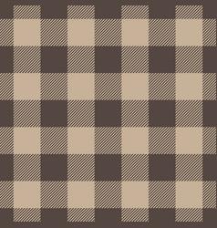 lumberjack plaid pattern in beige color seamless vector image