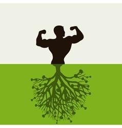 man grows vector image vector image