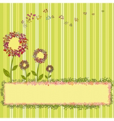springtime template vector image vector image
