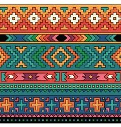 Bright folk ornamental textile seamless pattern vector image vector image
