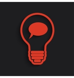 bulb with bubble vector image