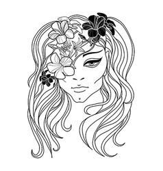 flower girl 2 vector image vector image