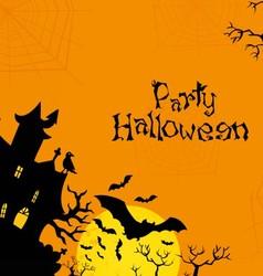 Halloween orange background vector image vector image