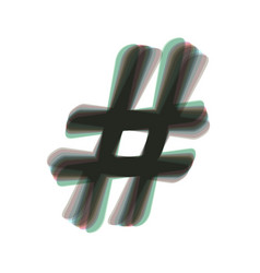 hashtag sign colorful icon vector image vector image