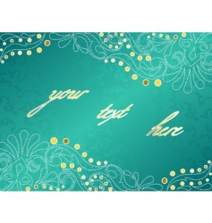 turquoise background with delicate swirls vector image