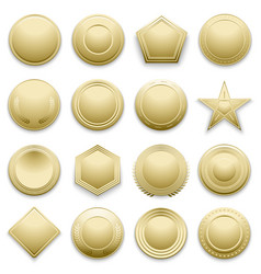 blank gold labels set vector image vector image