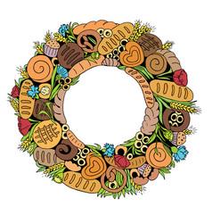 bread wreath2 vector image vector image