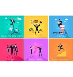 Business Banner Teamwork and Solution vector image vector image