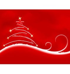 christmas background with firtree vector vector image vector image