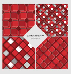 geometric seamless set vector image