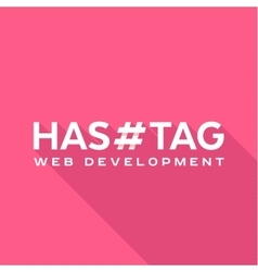 Logo concept hashtags flat style vector image