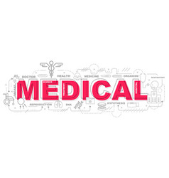 medical icons for education graphic design vector image vector image