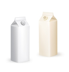 milk packaging box vector image