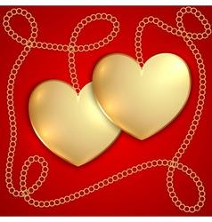 Saint Valentine Greeting Card vector image vector image