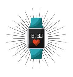 smart watch icon vector image