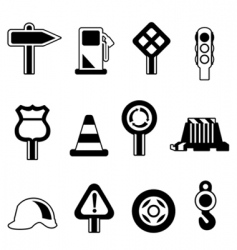 traffic icon vector image vector image