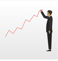 businessman and growing business flat vector image vector image
