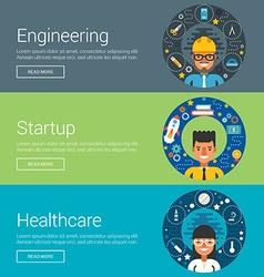 Engineering Startup Healthcare Flat Design vector image vector image