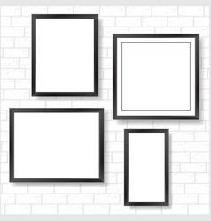 frames on bricks wall vector image