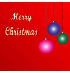 Holiday background with Christmas ornament vector image