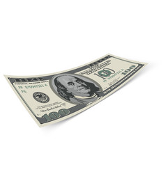 hundred dollar banknote on white background money vector image vector image
