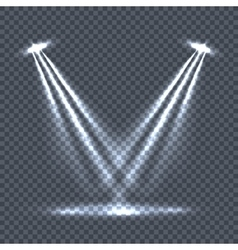 Illumination with light effects on transparency vector