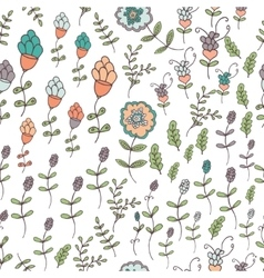 Seamless floral pattern springsummer vector image