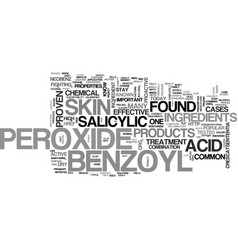 what you need to know about benzoyl peroxide text vector image vector image