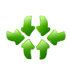 3d green arrows vector image