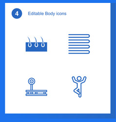 4 body icons vector image
