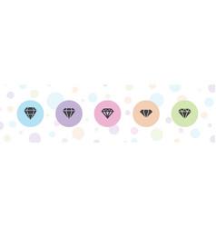 5 brilliant icons vector