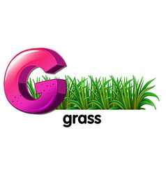 A letter G for grass vector