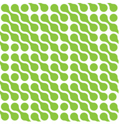 Abstract background of green connected dots in vector