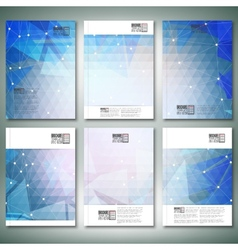 Abstract blue background Brochure flyer or vector image