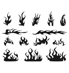 abstract fire patterns icons vector image