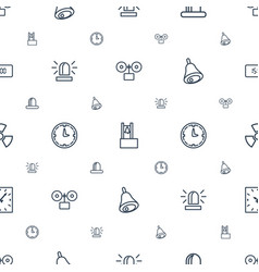 Alarm icons pattern seamless white background vector