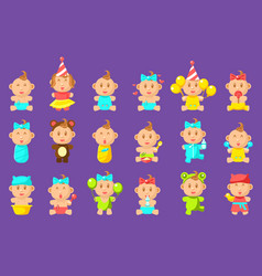 babies an toddles sticker set vector image