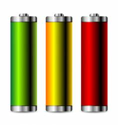 battery levels set vector image vector image
