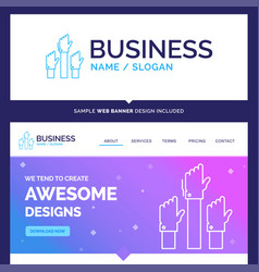 Beautiful business concept brand name aspiration vector