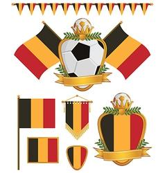 belgium flags vector image